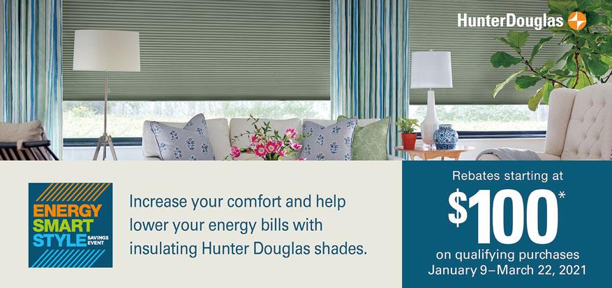 2021 Hunter Douglas Energy Smart Savings Event