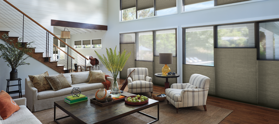 save on window treatments from Village Paint & Design and Hunter Douglas